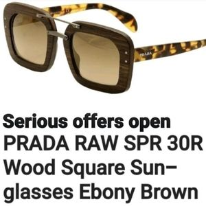 Wooden Prada sunglasses